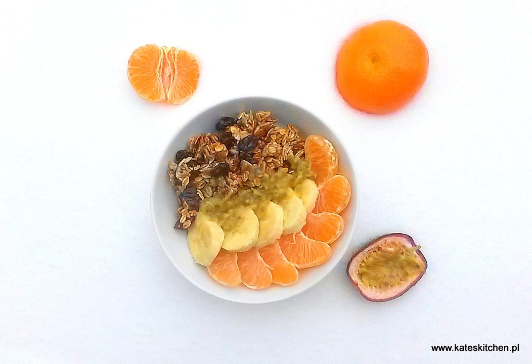 20170103 094336 - Domowa granola żurawinowo – cynamonowa i śniadanko z turbodoładowaniem – aż 2 przepisy w 1
