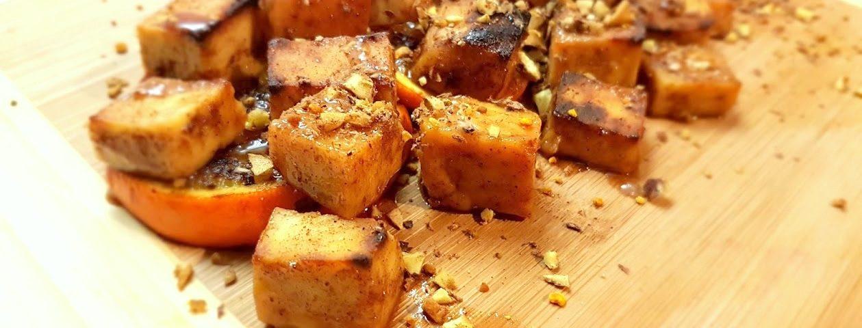 1 20171217 154307 1259x480 - Korzenne tofu serwowane na pomarańczy, z prażonymi kasztanami i pyłkiem kwiatowym