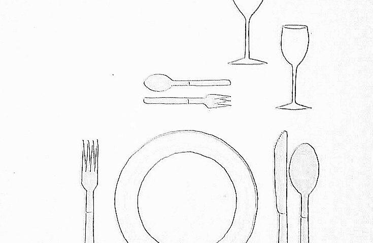 nakrycie podstawowe 001 735x480 - Wokół stołu – nakrycie podstawowe